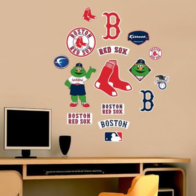 Fathead® MLB Boston Red Sox Junior Logo Sheet Wall Graphic