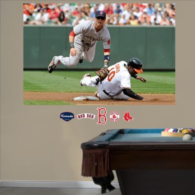 Fathead® MLB Boston Red Sox Dustin Pedroia Mural Wall Graphic