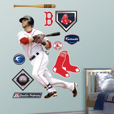 Fathead® MLB Boston Red Sox Dustin Pedroia Home Wall Graphic