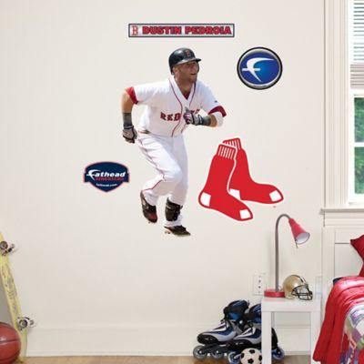 Fathead® MLB Boston Red Sox Dustin Pedroia Home Junior Wall Graphic