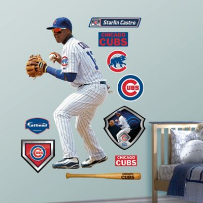 Fathead® MLB Chicago Cubs Starlin Castro Home Wall Graphic