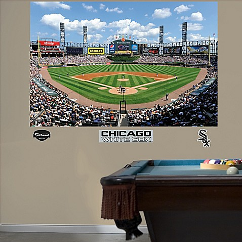Buy fathead mlb chicago white sox stadium mural wall for Baseball stadium wall mural