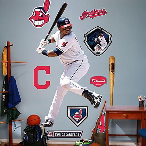 Fathead 174 Mlb Cleveland Indians Carlos Santana Home Wall