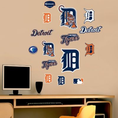 Fathead® MLB Detroit Tigers Logo Sheet Junior Wall Graphic