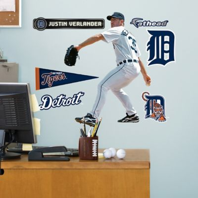 Fathead® MLB Detroit Tigers Justin Verlander Home Junior Wall Graphic