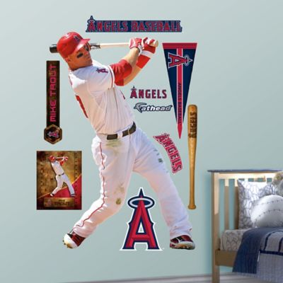 Fathead® MLB Los Angeles Angels Mike Trout Home Wall Graphic