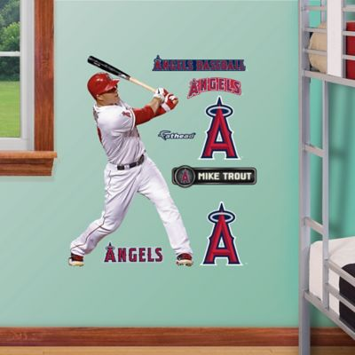 Fathead® MLB Los Angeles Angels Mike Trout Home Junior Wall Graphic