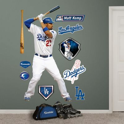 Fathead® MLB Los Angeles Dodgers Matt Kemp Home Wall Graphic