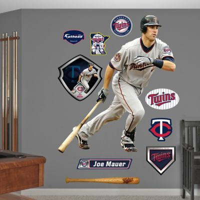 Fathead® MLB Minnesota Twins Joe Mauer Away Wall Graphic