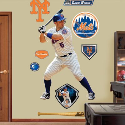 Fathead® MLB New York Mets David Wright Home Wall Graphic