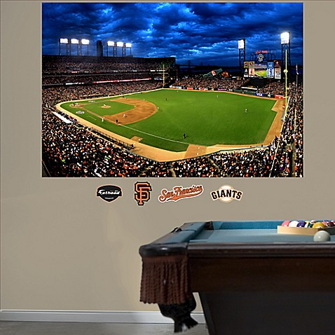 Buy fathead mlb san francisco giants stadium mural wall for Baseball stadium wall mural