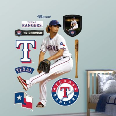 Fathead® MLB Texas Rangers Yu Darvish Home Wall Graphic