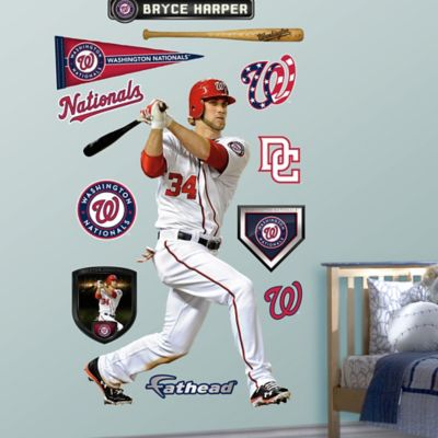 Fathead® MLB Washington Nationals Bryce Harper Home Wall Graphic