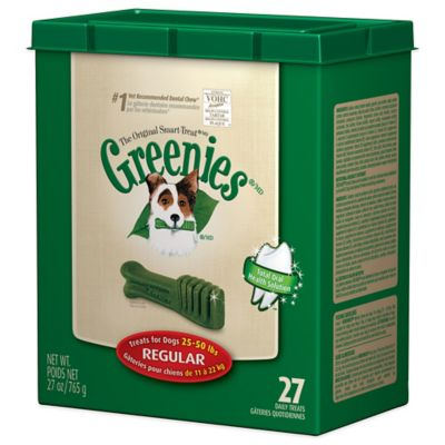 Greenies® Regular 27-Count Canine Dental Chew Treats