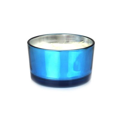 Blue Metallic Candle