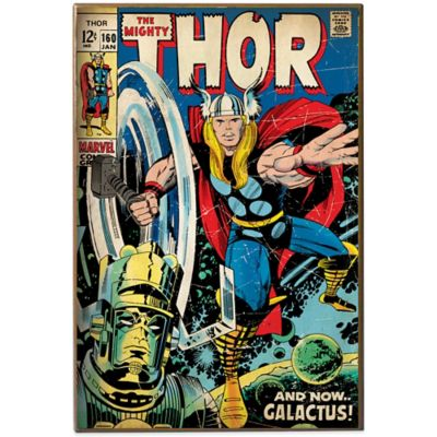 Marvel® Thor & Galactus Comic Book Cover Wall Plaque