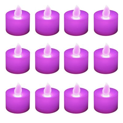 LED Battery Operated Tealight Candles in Changing Colors (12 Count)