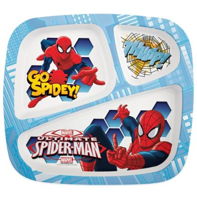 Zak! Designs® Spiderman Divided Kid's Dinner Plate