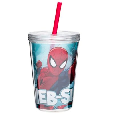 Zak! Designs® Spiderman 13 oz. Double Wall Tumbler with Straw