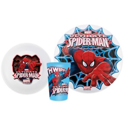 Zak! Designs® Marvel Spider-Man 3-Piece Kids Dinnerware Set
