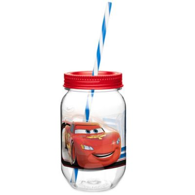 Zak! Designs® Disney® Cars 19-Ounce Tritan Canning Jar Tumbler with Straw