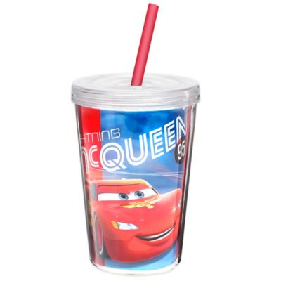 Zak! Designs® Disney® Cars 13-Ounce Double Wall Tumbler with Straw