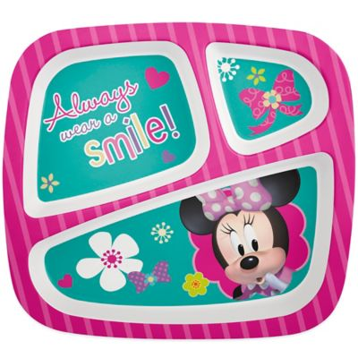 Zak! Designs® Minnie Divided Kid's Dinner Plate