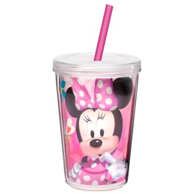 Zak! Designs® Minnie 13-Ounce Double Wall Tumbler with Straw