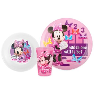 Zak! Designs® Disney® Minnie Mouse 3-Piece Kids Dinnerware Set