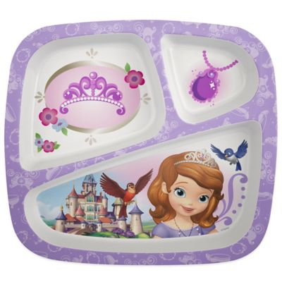 Zak! Designs® Sofia the 1st Divided Kid's Dinner Plate