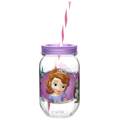 Zak! Designs® Disney® Sofia the First 19 oz.Tritan Canning Jar Tumbler with Straw