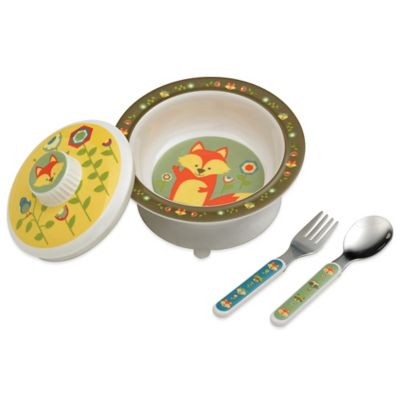 Sugarbooger® by o.r.e Suction Bowl Set in What Did the Fox Eat?