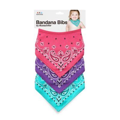 Pink Purple Bandana Bib