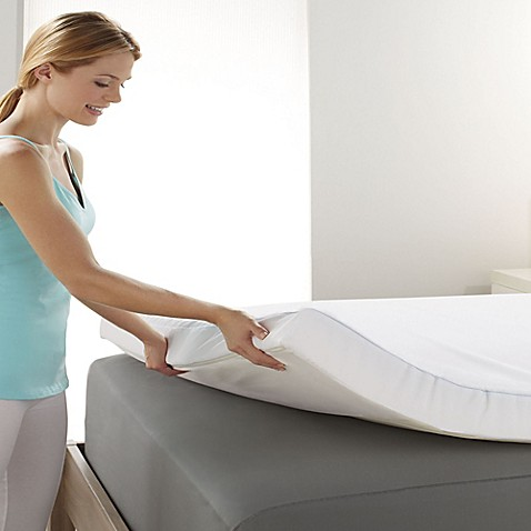 Brookstone 174 Biosense Support Gel Mattress Topper Bed