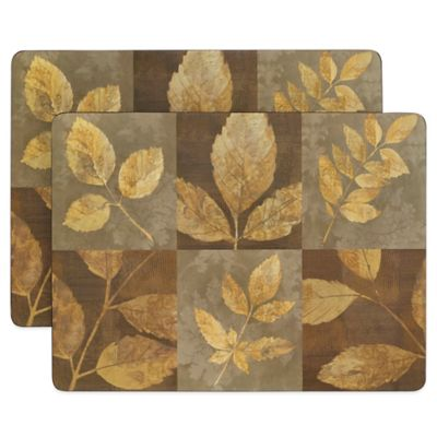 Autumn Leaves Cork-Backed 2-Piece Placemat Set