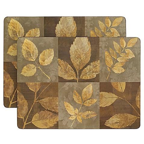 Autumn Leaves Cork Backed 2 Piece Placemat Set Bed Bath