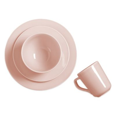 Real Simple® Tea Rose Round 4-Piece Place Setting in Pink