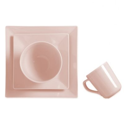 Real Simple® Tea Rose Square 4-Piece Place Setting in Pink