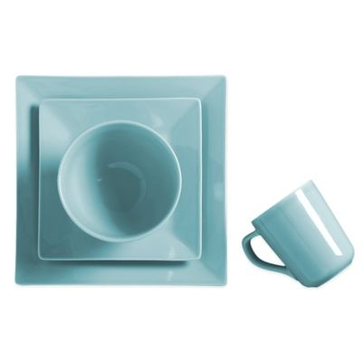 Real Simple® Square 4-Piece Place Setting in Stratford Blue