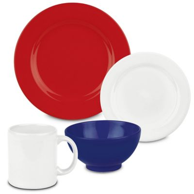 Red White Dinnerware Sets