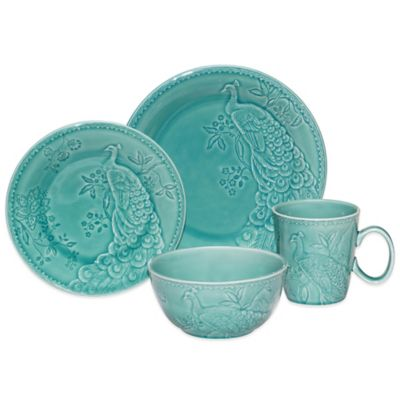 Certified International Peacock 16-Piece Dinnerware Set
