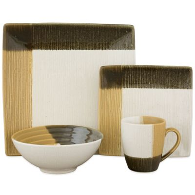Sango Odyssey 16-Piece Dinnerware Set in Black