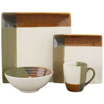 Sango Odyssey 16-Piece Dinnerware Set in Brown