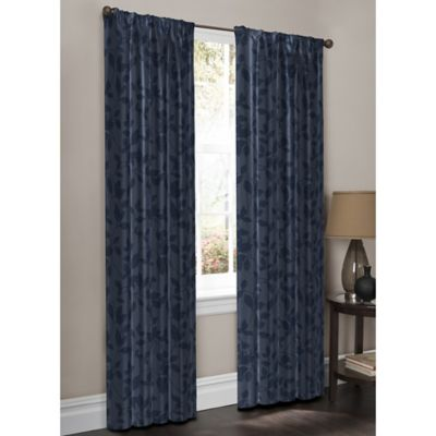 WrapAround Moore Print 63-Inch Window Panel Pair in Teal