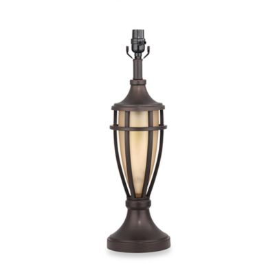 Mix & Match Large Lantern Nightlight Lamp Base in Bronze with CFL Bulb