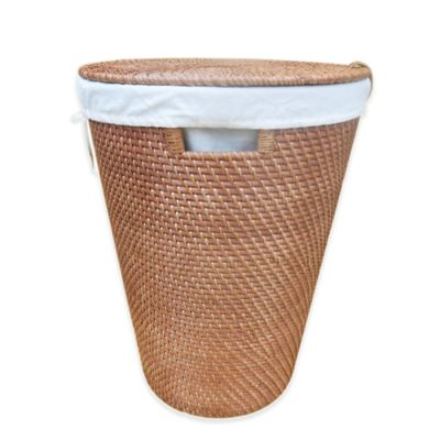 Baum-Essex Meredith Rattan Hamper in Medium Brown