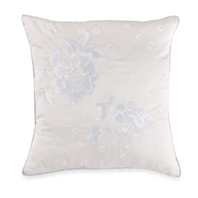 Wedgwood® Daisy Embroidered Square Throw Pillow