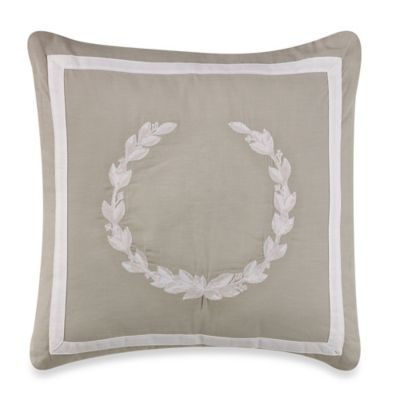 Wedgwood® Laurel Leaves Square Throw Pillow