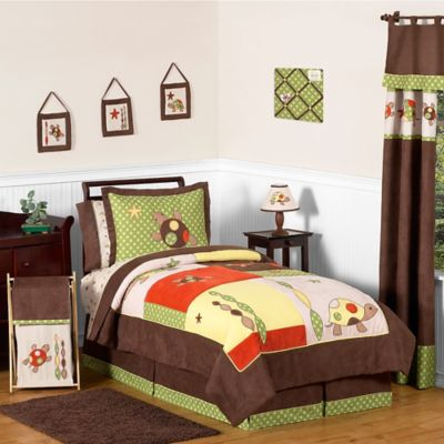 Sweet Jojo Designs Turtle 4-Piece Twin Bedding Set