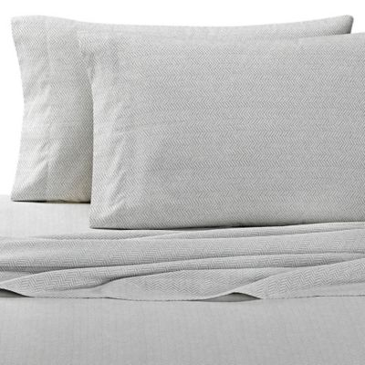 Nautica® Sedgemoor Twin Sheet Set in Ivory/Grey
